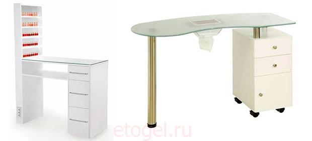 Каких размеров лучше конструировать маникюрный стол