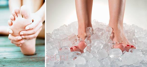 Как охладить и снять усталость с ног