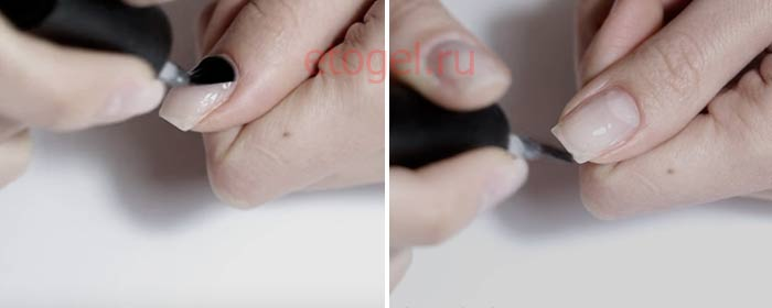 Как запечатывать торец ногтей