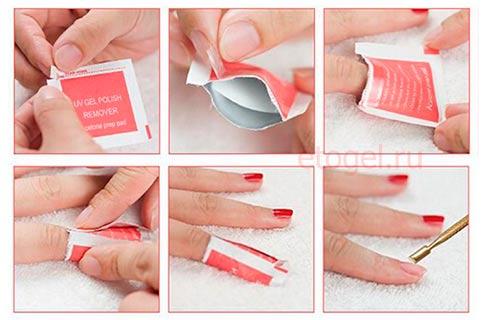 Как пользоваться салфетками для снятия гель лака