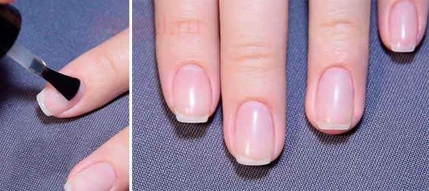 Выравнивание ногтевой пластины акрилом под гель лак