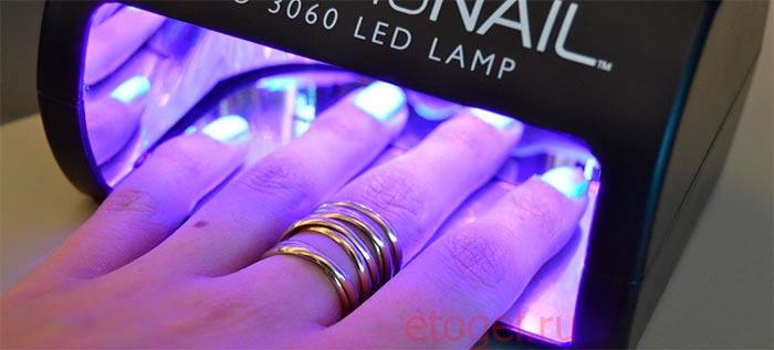 Сколько сушить гель лак в ЛЕД лампе 18 вт