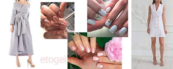 Как сочетать цвет ногтей с платьем