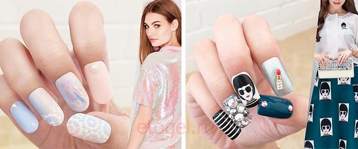 Дизайн ногтей в стиле платья
