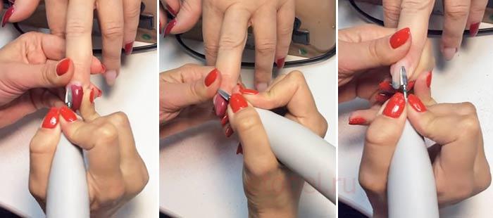 Как снять гель лак фрезером с нарощенных ногтей