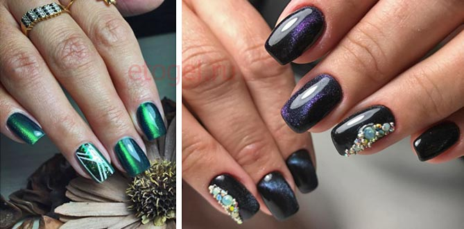 Дизайн ногтей с магнитным гель лаком