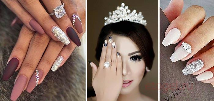 Яркие ногти для невесты