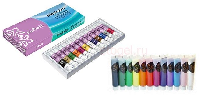 Лучшие акриловые краски для ногтей