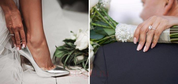 Свадебный маникюр гель лаком