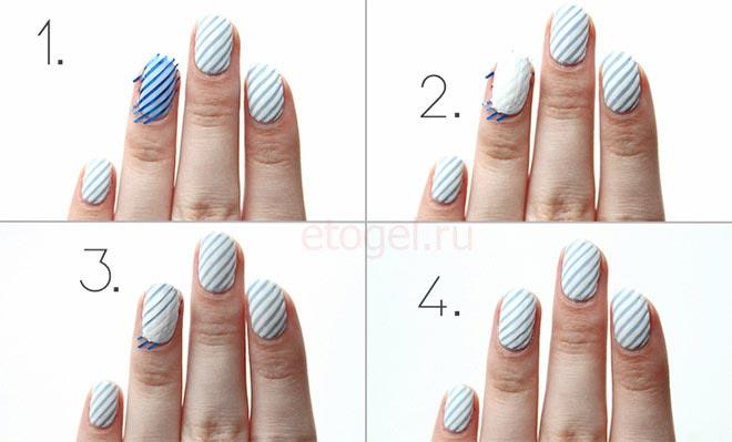 Как рисовать ровные линии на ногтях