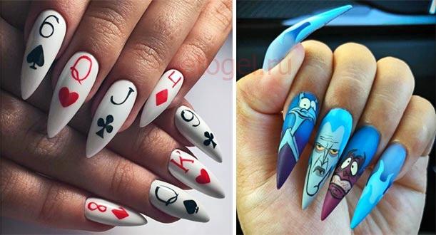 Рисунки для длинных ногтей