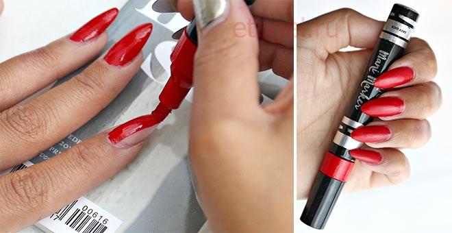Как выглядит на ногтях лак-карандаш