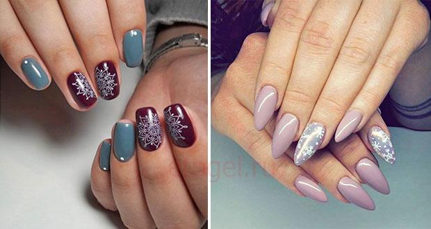 Красивый зимний дизайн ногтей