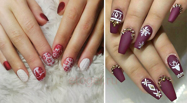 Дизайн ногтей в стиле свитера
