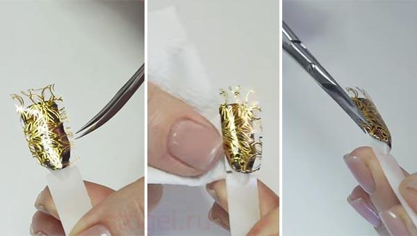 Как зафиксировать наклейки на ногтях ровно