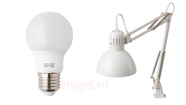 Какую лампу выбрать для бликов