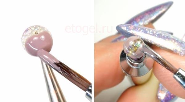 Как делать цветы в шарах на ногтях