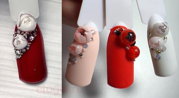 Цветочные пузыри леденцы для ногтей своими руками