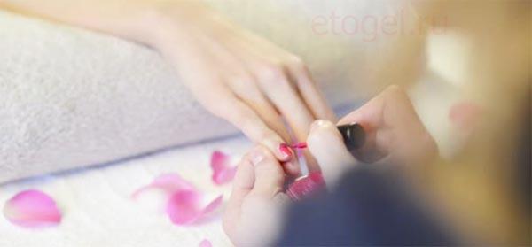 Затеки гель лака на кожу и кутикулу